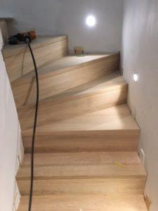 Betontrap bekleden met hout op maat - Schrijnwerkerij Gebroeders Liebens