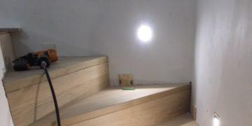 Betontrap bekleden met hout op maat